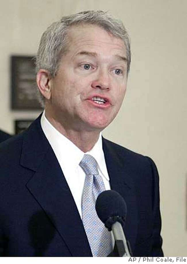 ** FILE ** Then-Rep. Mark Foley, R-Fla. speaks at a news conference in Tallahassee, Fla. in this March 16, 2004, file photo. The House voted Friday, Jan. 19, 2007, to overhaul the board that supervises its congressional page program, seeking to close the book on a sordid e-mail and sex scandal that sullied its reputation and became a Campaign 2006 issue. (AP Photo/Phil Coale, File) MARCH 16, 2004 FILE PHOTO Photo: PHIL COALE