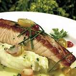 Bistro Don Giovanni restaurant in Napa, 4110 Highway 29. Photo of their Seared Salmon Filet with Buttermilk Mashed Potatoes.  Photo by Craig Lee/San Francisco Chronicle