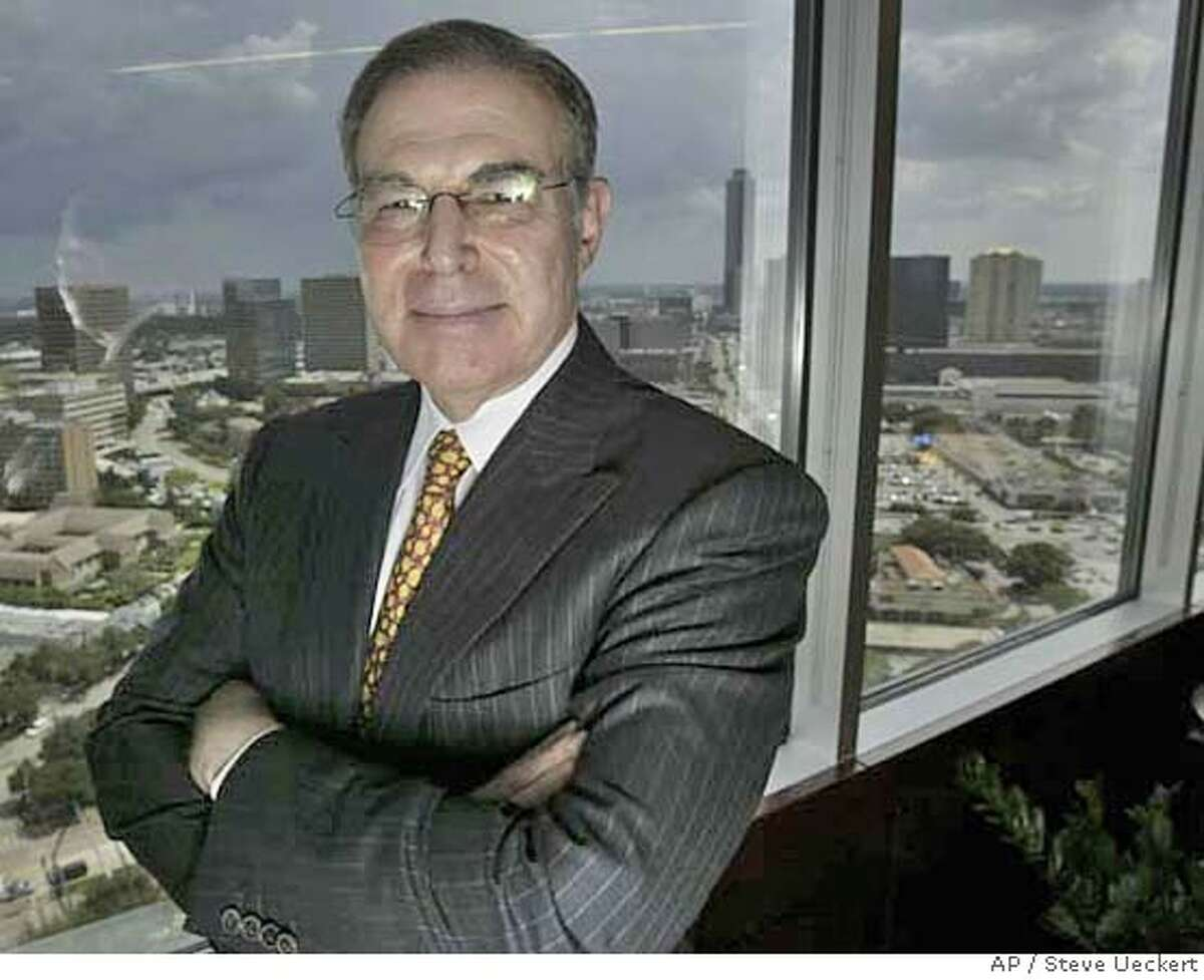 Charles Hurwitz stands in his office Wednesday, Aug. 24, 2005, in Houston. A federal judge on Tuesday ordered the Federal Deposit Insurance Corp. to pay Hurwitz $72.3 million in attorneys fees for its failed lawsuit against him over a defunct savings and loan. (AP Photo/Houston Chronicle, Steve Ueckert) Ran on: 08-25-2005 Financier Charles Hurwitz originally filed his lawsuit against the FDIC in 1997. NO MAGS,