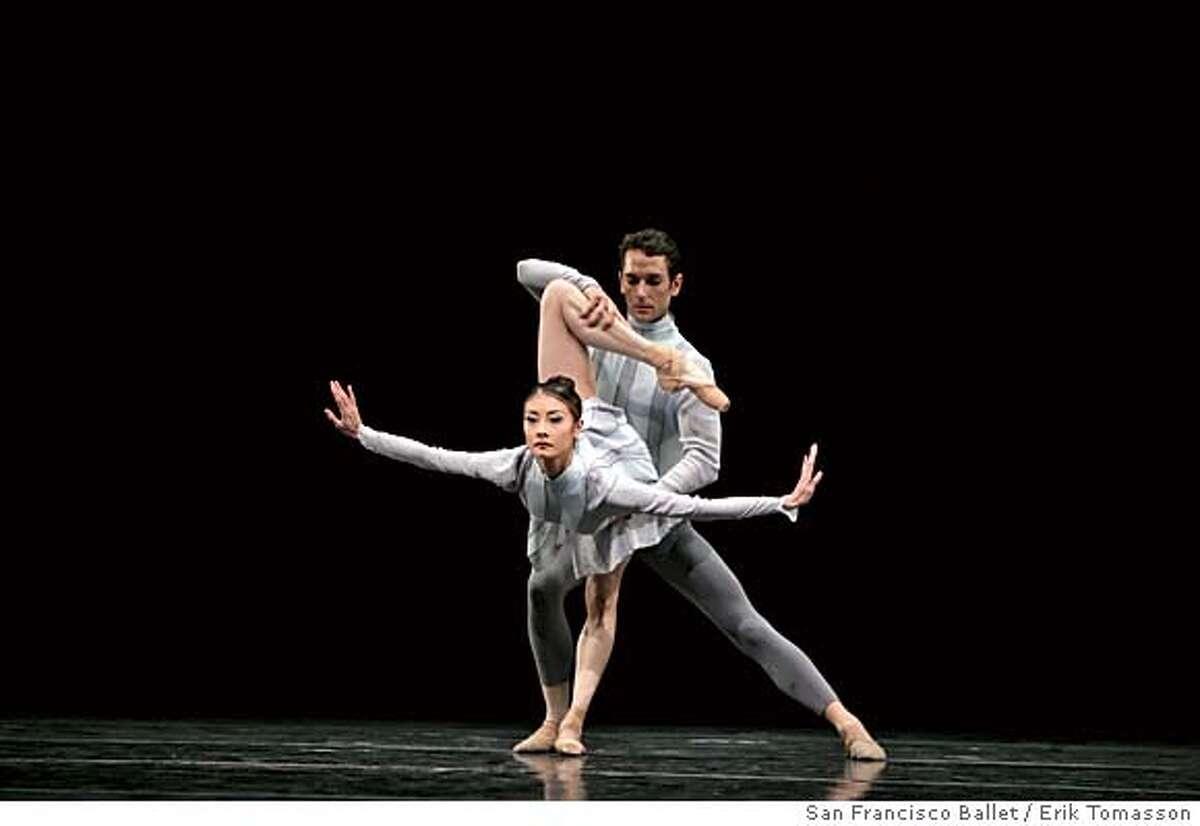 Yuan Yuan Tan and Damian Smith in Wheeldon's Quaternary. Credit: � Erik Tomasson / San Francisco Ballet