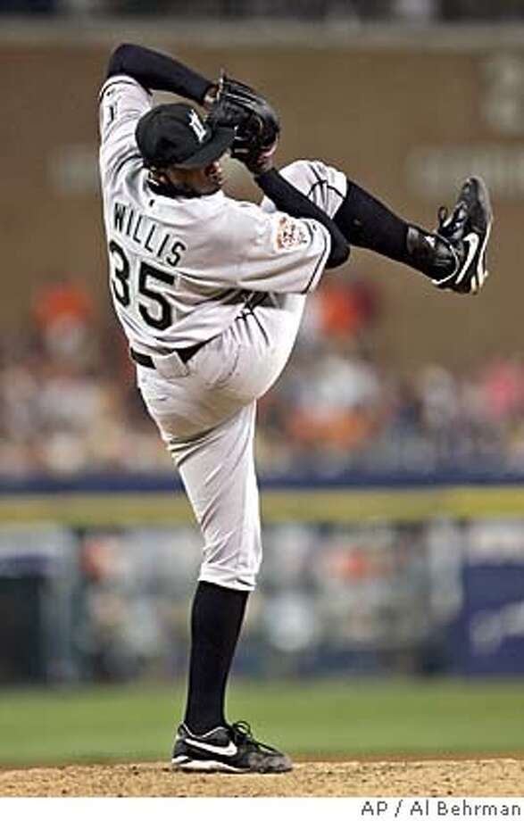 National League All-Star Dontrelle Willis of the Florida Marlins pitches during the sixth inning of the 2005 MLB All-Star Game, at Comerica Park in Detroit, Tuesday, July 12, 2005. Willis gave up a 2-run home run to Mark Teixeira of the Texas Rangers. (AP Photo/Al Behrman) Photo: AL BEHRMAN
