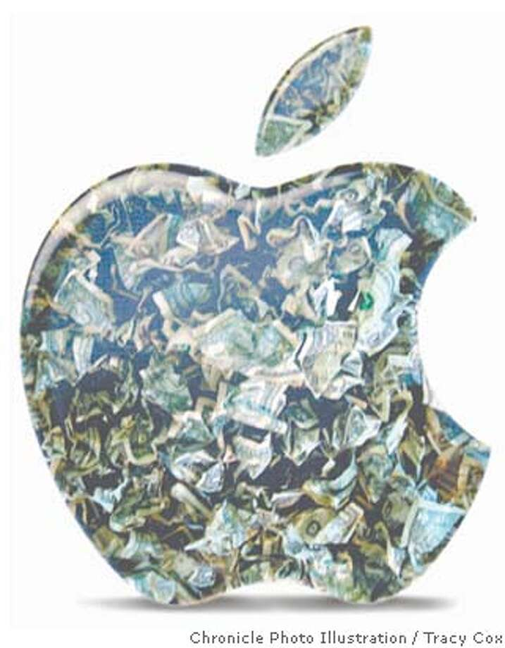 It's a billion-dollar quarter: Sales of iPods, Macs propel Apple to record results; options probe still looms. Chronicle illustration by Tracy Cox