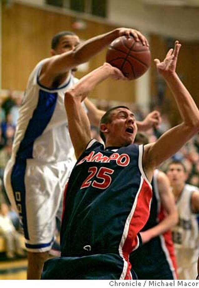 campolindo17_023_mac.jpg Campolindo's 25- Graham Smith has his shot blocked by Acalanes 15- Jordan Fillmore. Boys High School Basketball Acalanes vs. Campolindo. Photographed in, Lafayette, Ca, on 1/16/07. Photo by: Michael Macor/ San Francisco Chronicle Mandatory credit for Photographer and San Francisco Chronicle / Magazines Out Photo: Michael Macor