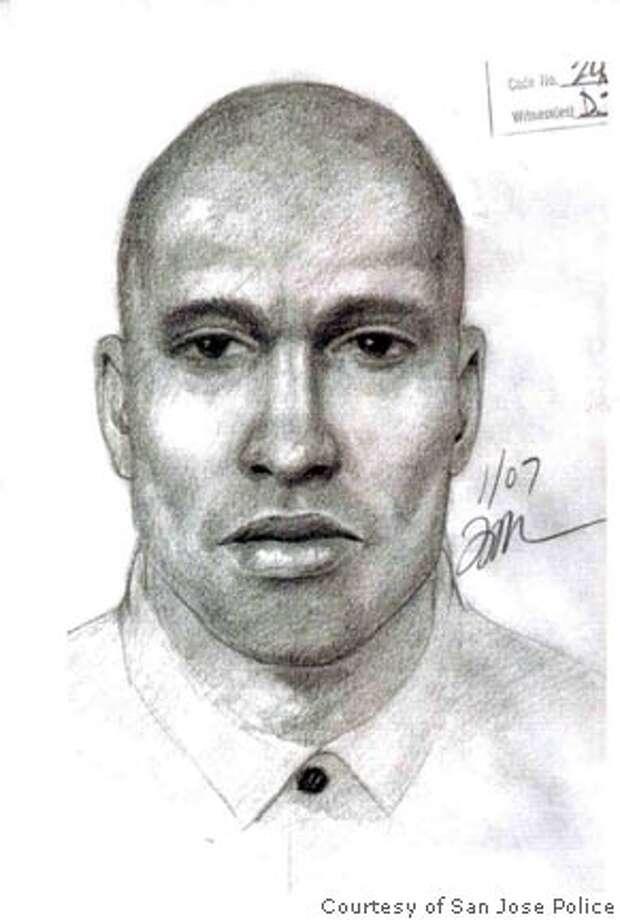 Road rage suspect sketch. Courtesy of San Jose Police Photo: Courtesy Of San Jose Police