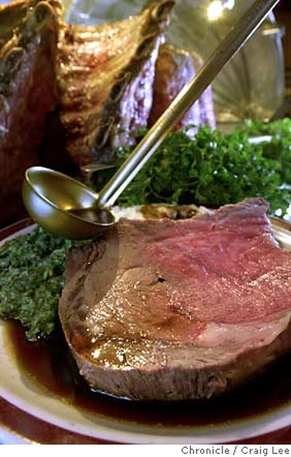 The prime rib remains the main attraction at House of Prime Rib, as well as a great deal. Chronicle photo, 2006, by Craig Lee