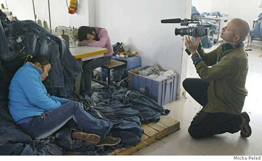 """Images from sweat shop documentary """"China Blue"""" Your files are attached and ready to send with this message. Credit: Micha Peled Photo: Micha Peled"""
