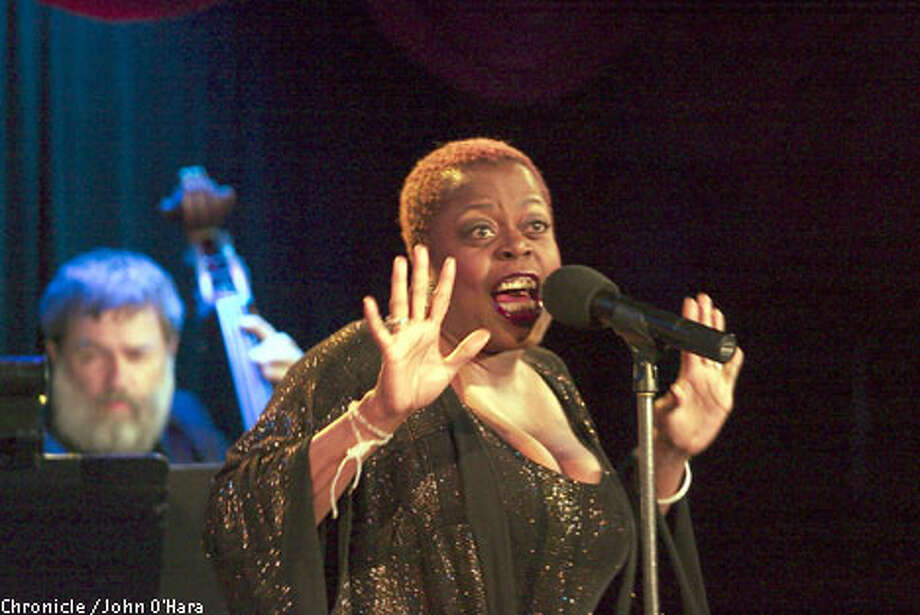Lillias White's formidable stage presence was evident during her performance at the Plush Room. Chronicle photo by John O'Hara