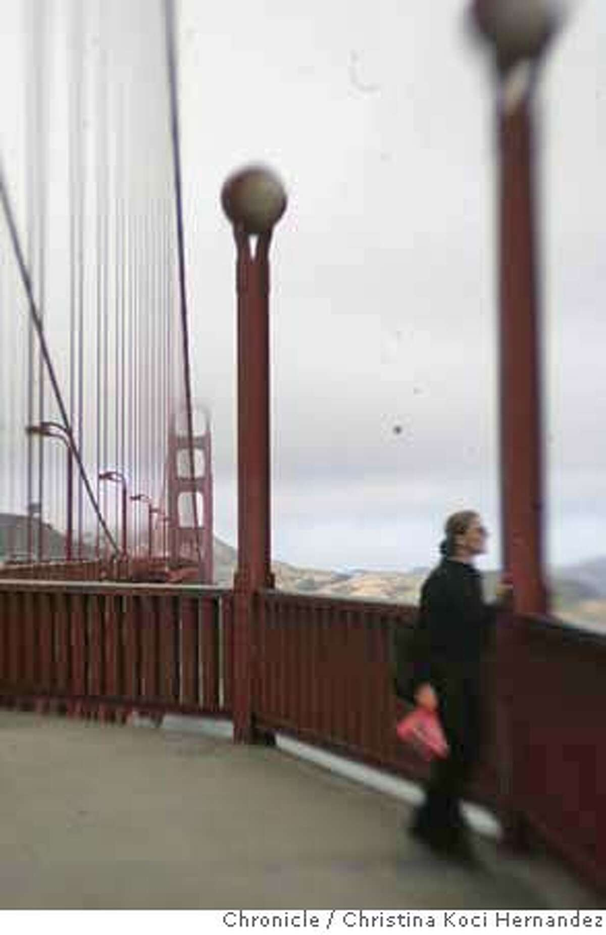 CHRISTINA KOCI HERNANDEZ/CHRONICLE Photos of the Golden gate Bridge. Story on GG Bridge suicides for story,