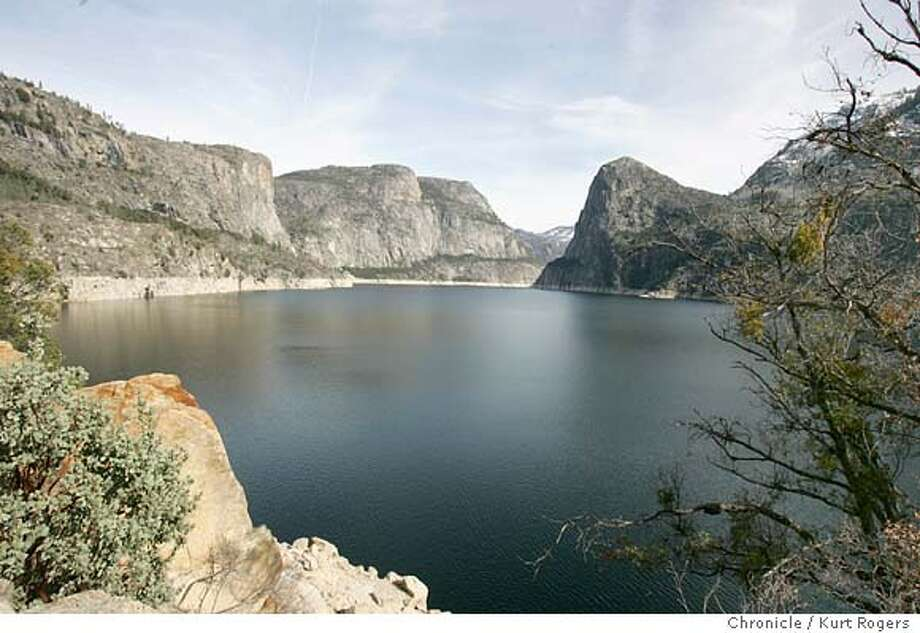 Looking East across the Hetch Hetchy Reservoir .  The O'Shaughnessy Dam is in Hetch Hetchy Valley, in the Grand Canyon of the Tuolumne River in Yosemite National Park.  HETCHEYXX_0124_kr.JPG 2/9/05 in YOSETMITE,CA.  KURT ROGERS/THE CHRONICLE Ran on: 03-27-2005 MANDATORY CREDIT FOR PHOTOG AND SF CHRONICLE/ -MAGS OUT Photo: KURT ROGERS