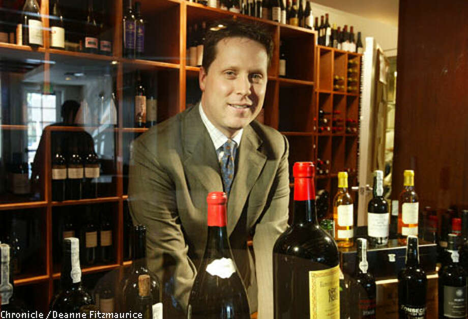 Wine director Andrew Green oversees a large staff of sommeliers at the Village Pub in Woodside. Chronicle photo by Deanne Fitzmaurice