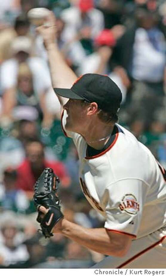 Giants starter Brad Hennessey St Louis Cardinals Vs.San Francisco Giants at SBC Park. GIANTS_0009_kr.JPG 7/9/05 in San Francisco,CA.  KURT ROGERS/THE CHRONICLE MANDATORY CREDIT FOR PHOTOG AND SF CHRONICLE/ -MAGS OUT Photo: KURT ROGERS