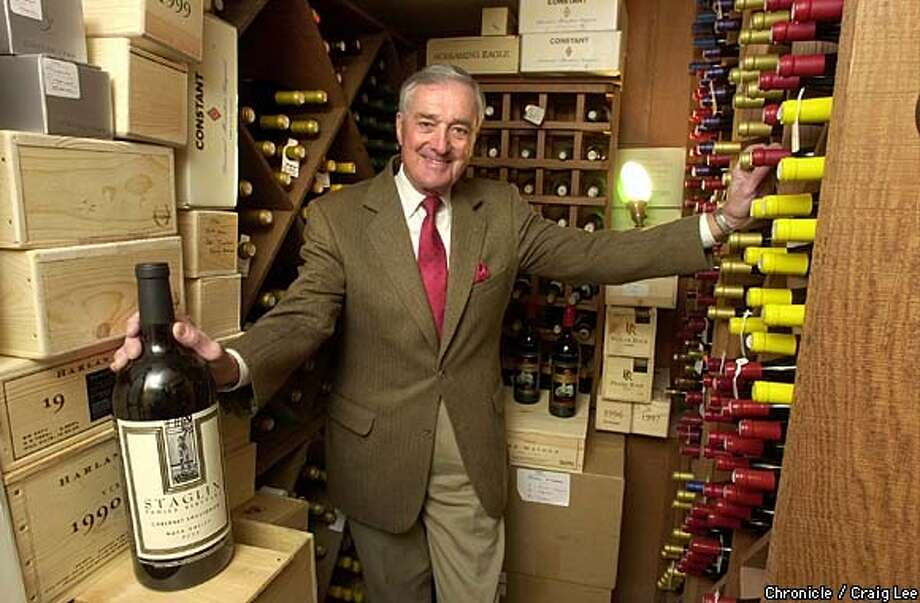 Home wine cellar of Ron Light in Lafayette. Photo of Ron in his cellar.  Photo by Craig Lee/San Francisco Chronicle Photo: CRAIG LEE