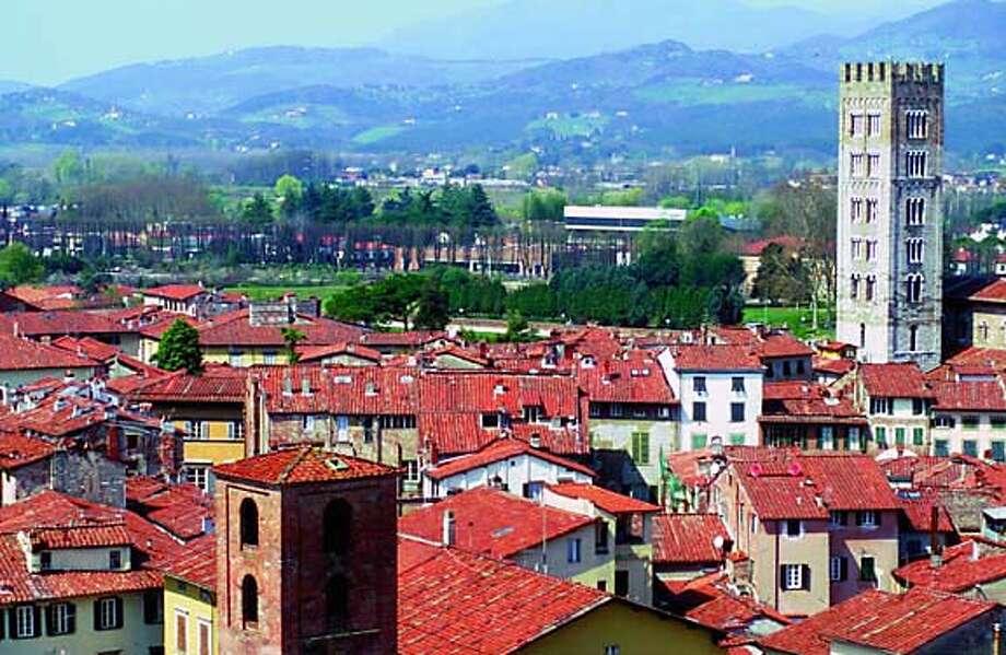The town of Lucca in Tuscany. Lucca on 7/1/05.  Vito Arcomano / Italian Government Tourist Board, Los Angeles Photo: Vito Arcomano