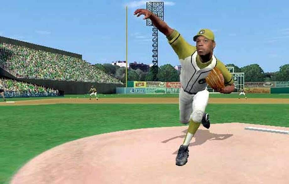 THIS IS A HANDOUT IMAGE. PLEASE VERIFY RIGHTS. Negro Leagues players in Acclaim's All-Star Baseball 2004. Satchel Paige in action.  HANDOUT PHOTO/VERIFY RIGHTS AND USEAGE Photo: HANDOUT