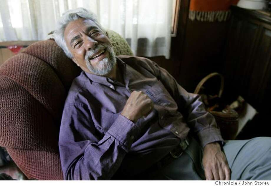 Portrait of Rafael Gonzalez who will be giving a talk abut Mary Magdalene. For the Literate section of East Bay Life. John Storey Berkeley Event on 6/24/05 Photo: John Storey