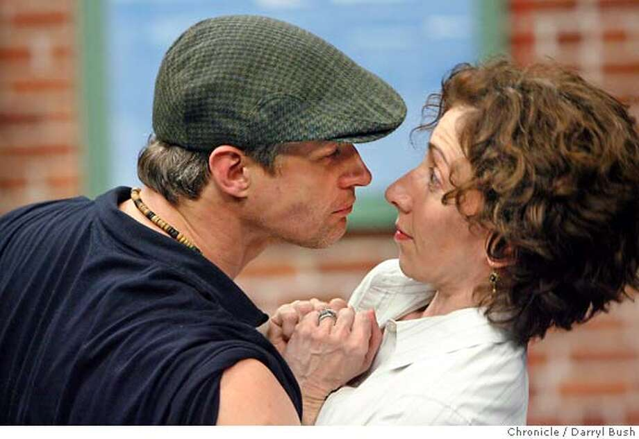 tosca_0202_db.JPG  Cast members Yuri Possokhof and Joanna Berman, perform in one of the scenes of The Tosca Project in rehearsals at an American Conservatory Theater's rehearsal studio in San Francisco, CA, on Saturday, January, 6, 2007. photo taken: 1/6/07  Darryl Bush / The Chronicle ** (publicist's list) cq MANDATORY CREDIT FOR PHOTOG AND SF CHRONICLE/ -MAGS OUT Photo: Darryl Bush