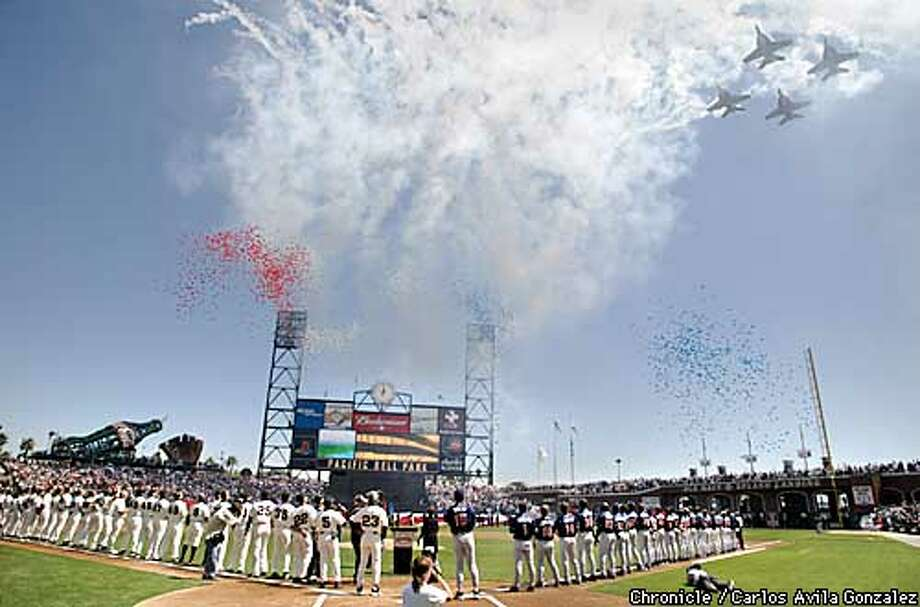 On An Idyllic Opening Day At Pac Bell Park A Sobering Symbolism