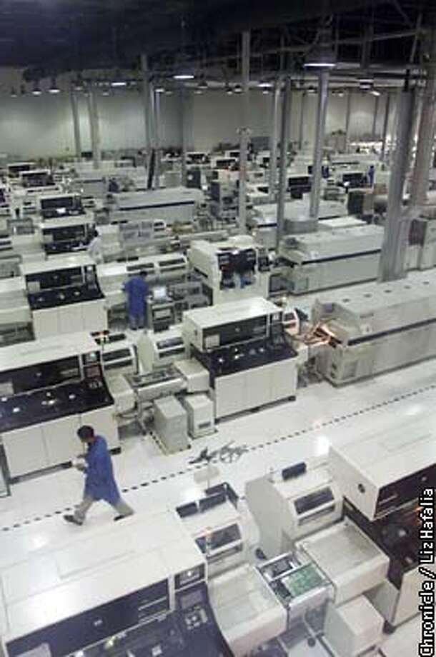 Overview of manufacturing plant of Flextronics International in San Jose.  BY LIZ HAFALIA/THE CHRONICLE Photo: LIZ HAFALIA