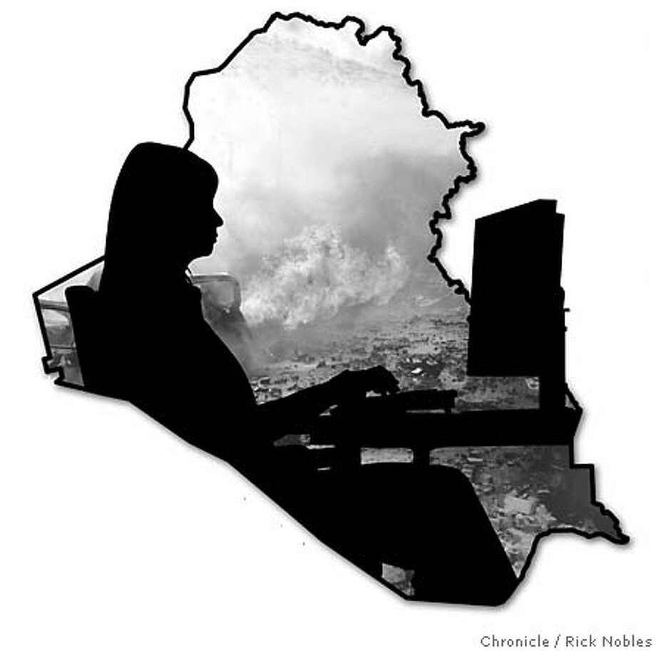 Baghdad Blogging. Chronicle graphic illustration by Rick Nobles