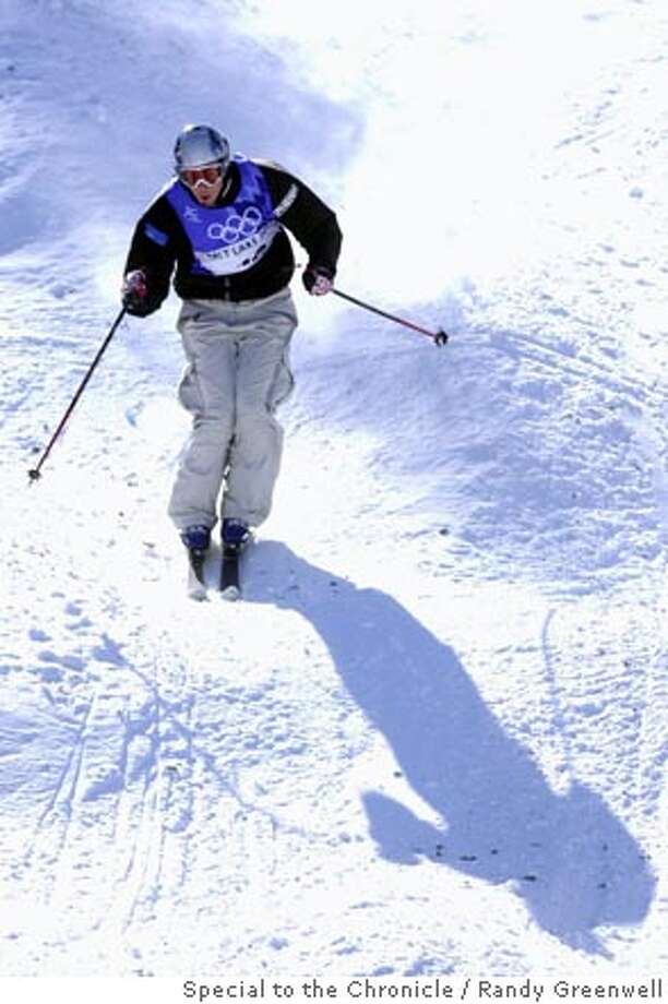 OLYMPICS13H-C-12FEB02-MN-RG Jonny Moseley storms the course at the Men's Moguls at Deer Valley Resort. Moseley finished fourth. The 2002 Winter Olympics takes place in Salt Lake City, Utah. Randy Greenwell/The Chronicle Photo: Randy Greenwell
