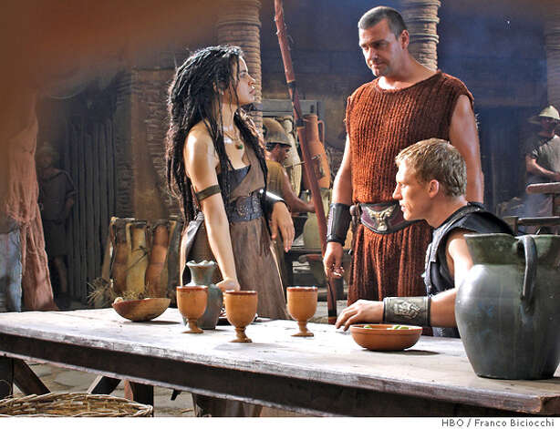 ROME: Zuleikha Robinson, Ray Stevenson, Kevin McKidd. photo: Franco Biciocchi Photo: Franco Biciocchi