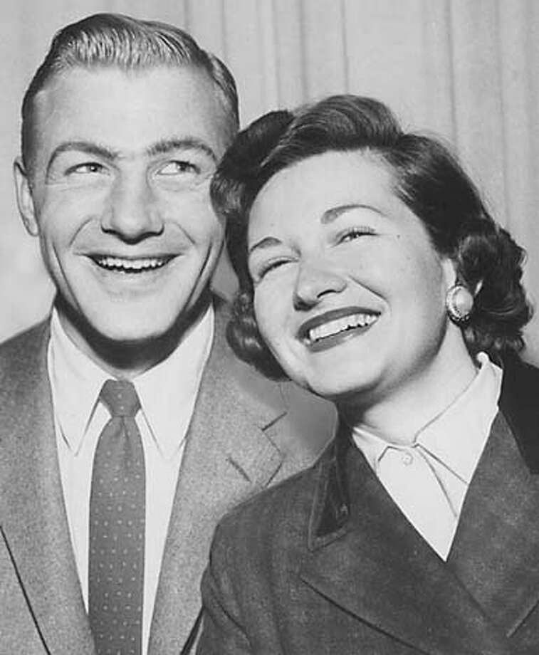 wayback14 Peter and Joan Elliot in 1957, the year he was hired as head football coach at U.C. Berkely, becoming the youngest head coach in the history of the program. He was 30. MANDATORY CREDIT FOR PHOTOG AND SF CHRONICLE/ -MAGS OUT Photo: Chronicle Archive