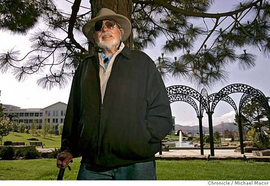 halprin085_mac.jpg Halprin in the middle of his landscape creation, lagoon, fountain and a view of the Golden Gate Bridge. Lawrence Halprin, landscape architect, will unveil two major products this summer- 17 acres of landscaping at Letterman Digital Arts Center in the Presidio. 4/12/05 San Francisco, Ca Michael Macor / San Francisco Chronicle Mandatory Credit for Photographer and San Francisco Chronicle/ - Magazine Out Photo: Michael Macor