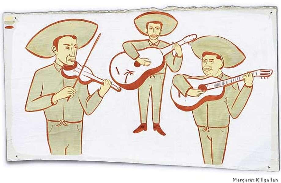 Mariachis. Illustration by Margaret Killgallen