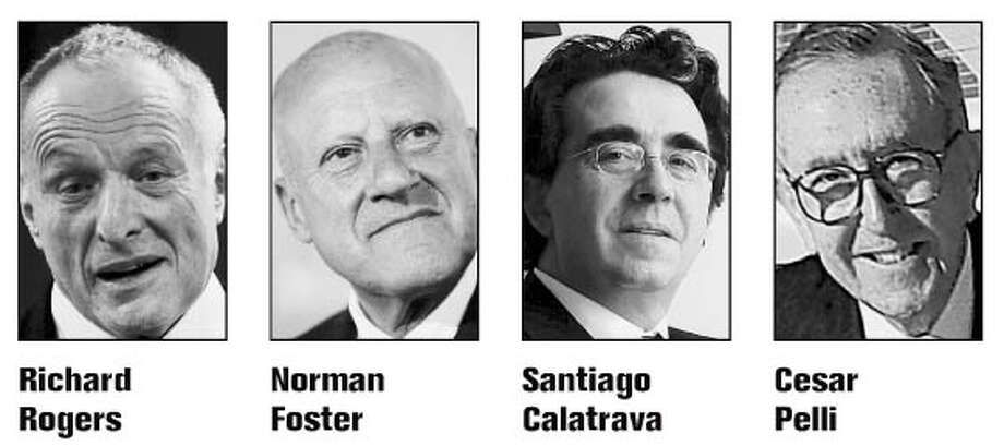 From left: Richard Rogers, Norman Foster, Santiago Calatrava and Cesar Pelli.