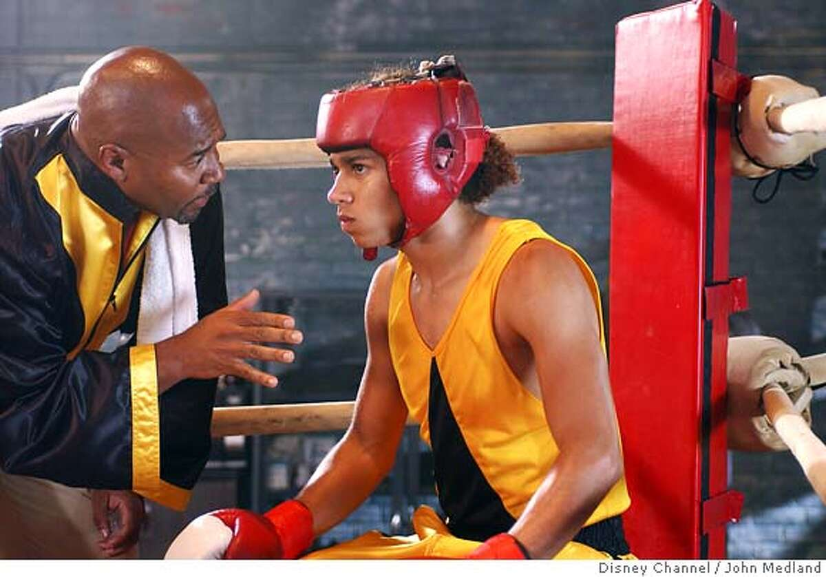 """This undated photo, provided by the Disney Channel, shows David Reivers, left, and Corbin Bleu in a scene from the channel's original movie """"Jump In!,"""" which premieres in Friday, Jan. 12. (AP Photo/Disney Channel/John Medland) 2006 DISNEY CHANNEL ALL RIGHTS RESERVED. NO ARCHIVE."""