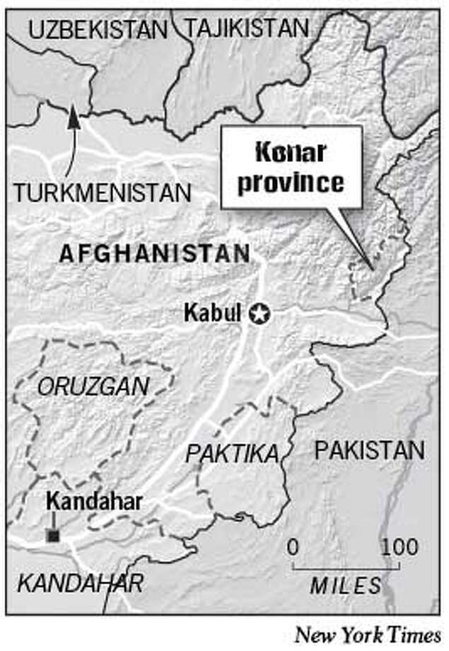 Konar Province. New York Times Graphic
