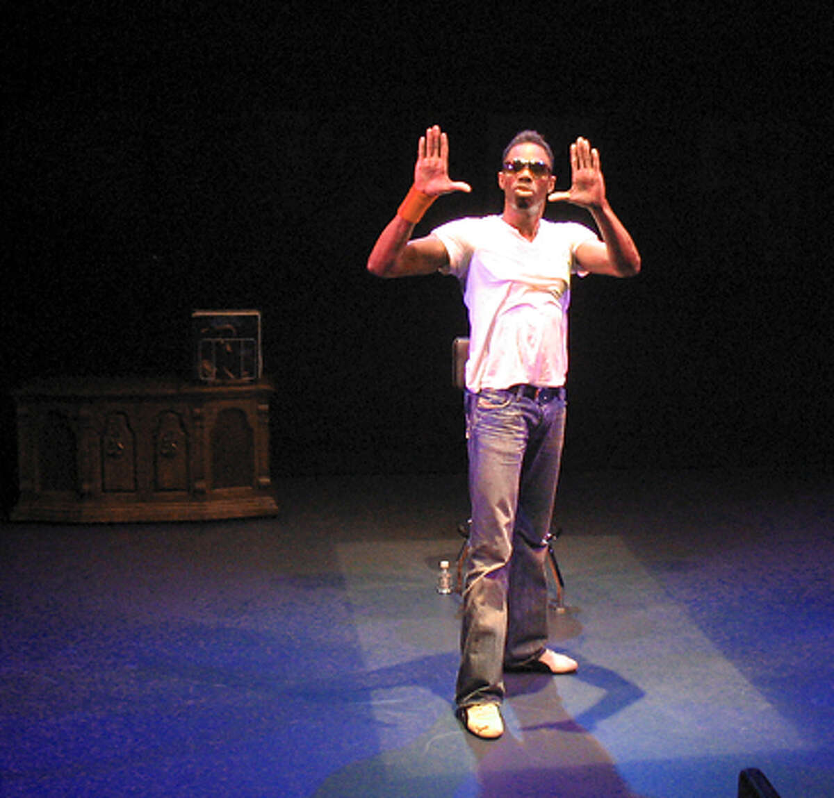 Colman Domingo in Thick Description's production of A BOY AND HIS SOUL.
