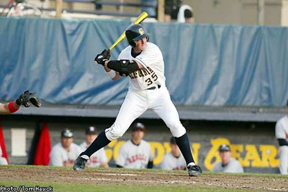 CAL baseball player/catcher Chris Grossman for a CAL BB feature by Bruce Adams to run 4/3 or 4/4/03. Photo / Tom Hauck. Photo: Tom Hauck