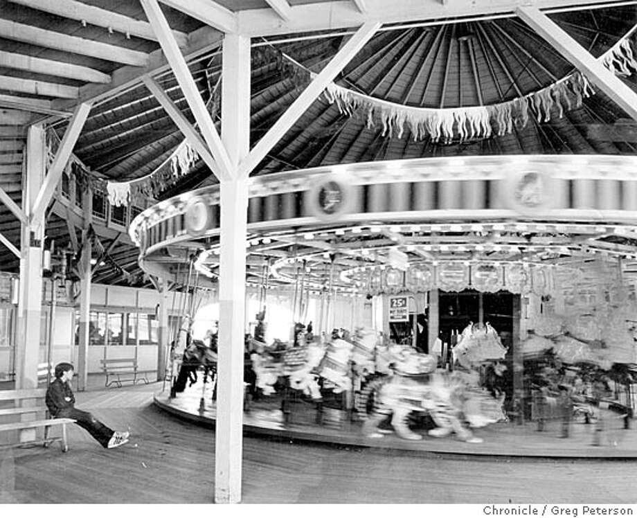 The lovely old Merry-Go-Round at Playland in 1972. Photo: GREG PETERSON