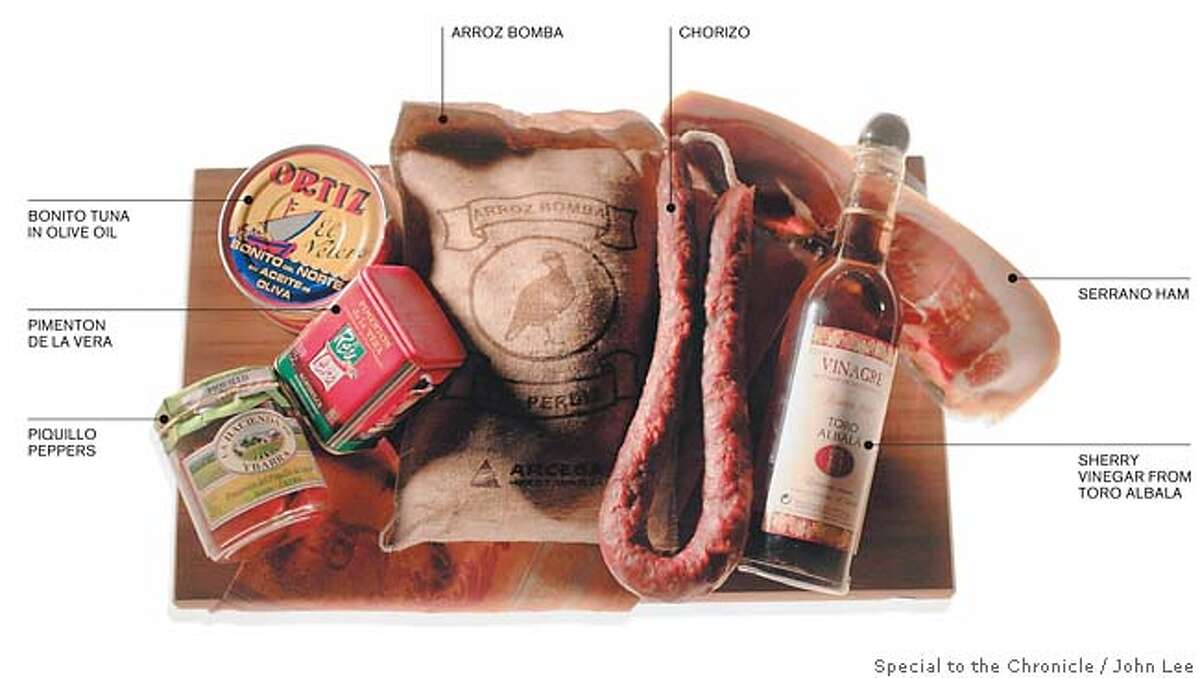 Spanish Ingredients. Photo by John Lee, special to the Chronicle