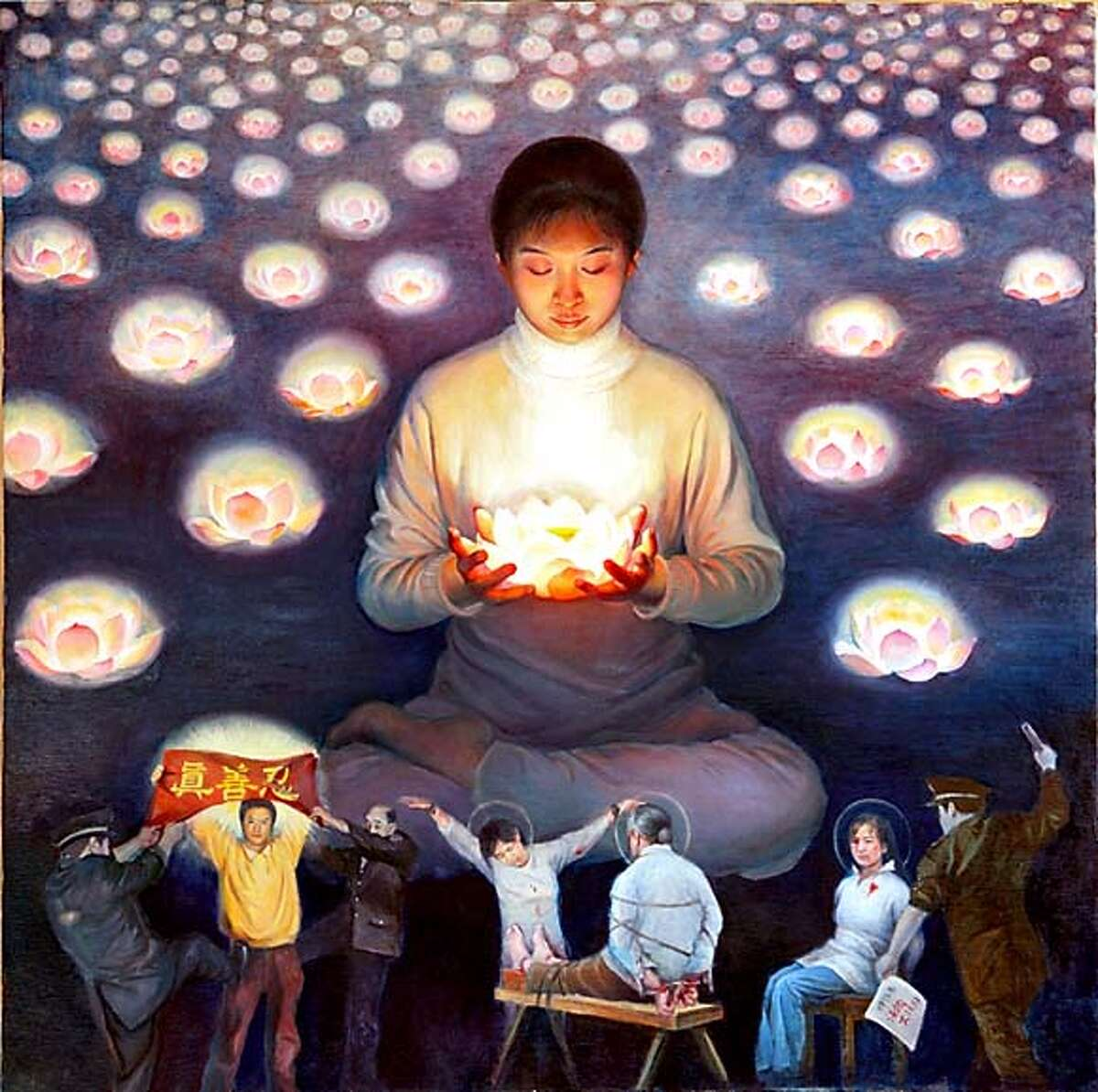 title: lotus candle artist: xiao ping type: oil on canvas