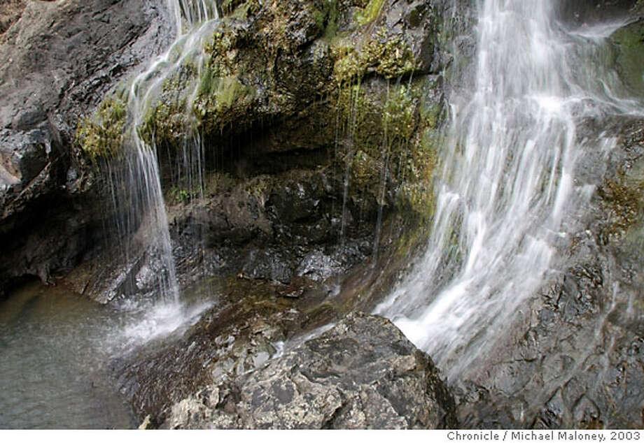 FALLSc-C-26FEB03-GO-MJM  Carson Falls in Marin County near Fairfax is a series of 5 falls on Carson Creek.  CHRONICLE PHOTO BY MICHAEL MALONEY Photo: MICHAEL MALONEY