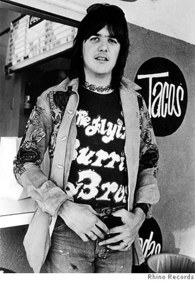 ** FILE ** Country-rock pioneer Gram Parsons is shown in this undated file photo. The life of Parsons is the subject of two films being shown at the Nashville Film Festival in Nashville, Tenn. April 26-May 2. (AP Photo/The Rhino Records, File)  Ran on: 06-09-2006  Gram Parsons, a pioneer in the genre of country-rock music, who died in 1973.  Ran on: 12-29-2006  Sarah Chang appears with the San Francisco Symphony. Photo: Rhino Records