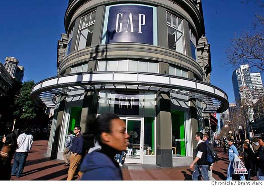 gap008.JPG  Photos of the Gap store at Market and Powell Streets in San Francisco. The company has hired an investment broker to consider a sale.  {Brant Ward/San Francisco Chronicle}1/8/07 Photo: Brant Ward