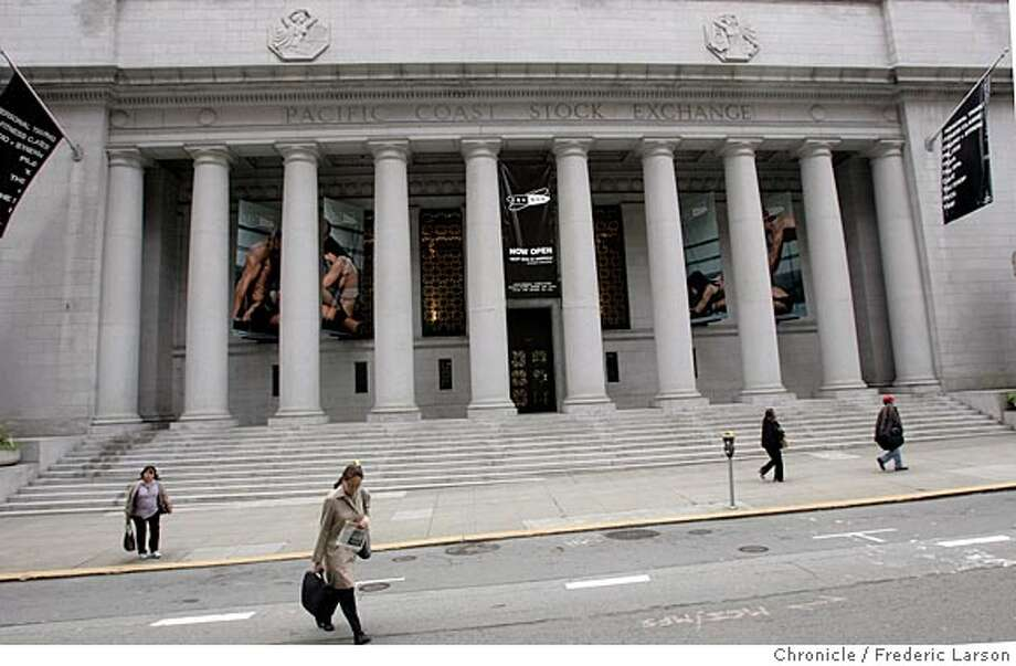 LAMBERT073_fl.jpg The old Pacific Stock Exchange at Pine and Sansome in SF has been taken over by a gym called the Equinox Gym.  6/28/05 San Francisco CA Frederic Larson The San Francisco Chronicle Photo: Frederic Larson