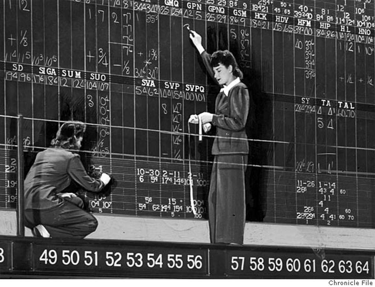 Pacific Stock Exchange in 1942 Chronicle file photo