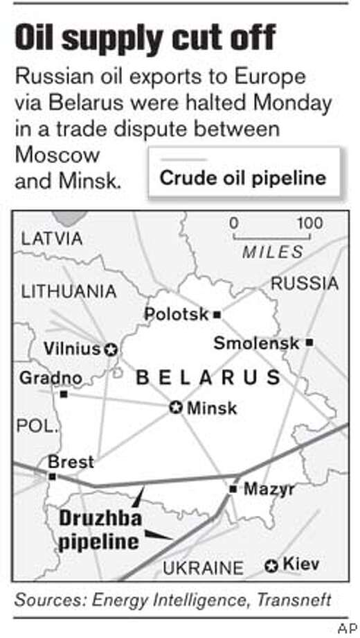 Oil Supply Cut Off. Associated Press Graphic