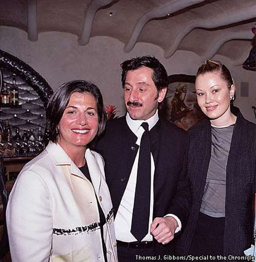 THIS IS A HANDOUT IMAGE. PLEASE VERIFY RIGHTS. L-R: Maria Muzio, Ralph Rucci and Tatiana Sorokko (crop out blonde on far right) talk fashion at the fashionable Farallon restaurant. Photo credit: Thomas J. Gibbons/Special to the Chronicle HANDOUT PHOTO/VERIFY RIGHTS AND USEAGE Photo: HANDOUT