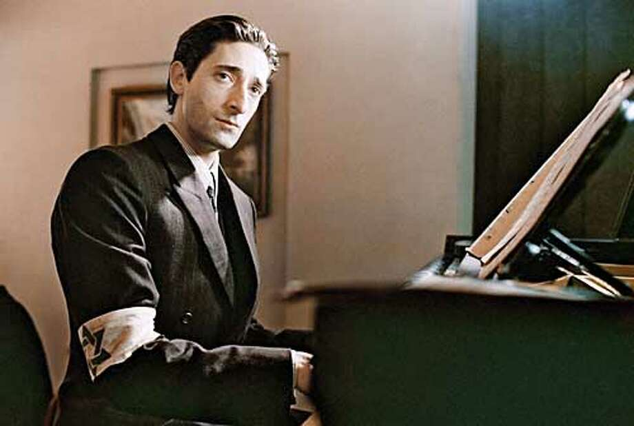 """** FILE **Actor Adrien Brody stars in Roman Polanski's """"The Pianist,"""" in this undated promotional photo. """"The Pianist"""" was nominated for best picture when the Academy Award nominations were announced Tuesday, Feb. 11, 2003. Brody was also nominated for best actor. The winners will be announced March 23, 2003, at the 75th annual Academy Awards. (AP Photo/Focus Features, Guy Ferrandis) Photo: GUY FERRANDIS"""