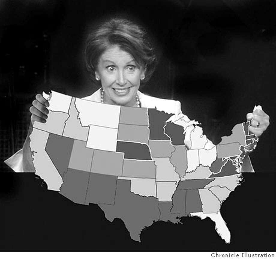 Pelosi's new image as Italian Catholic mom -- more than a 'San Francisco liberal.' Chronicle Illustration