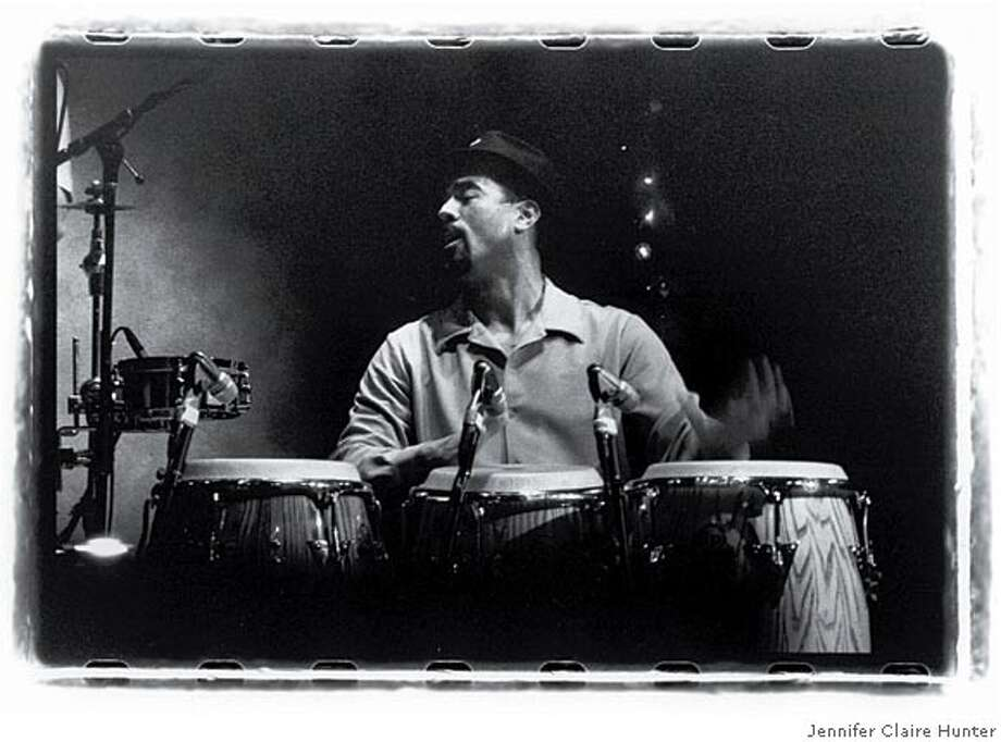 Caption: John Santos will perform at Yoshi's in July 2005.� Credit: Jennifer Claire Hunter.