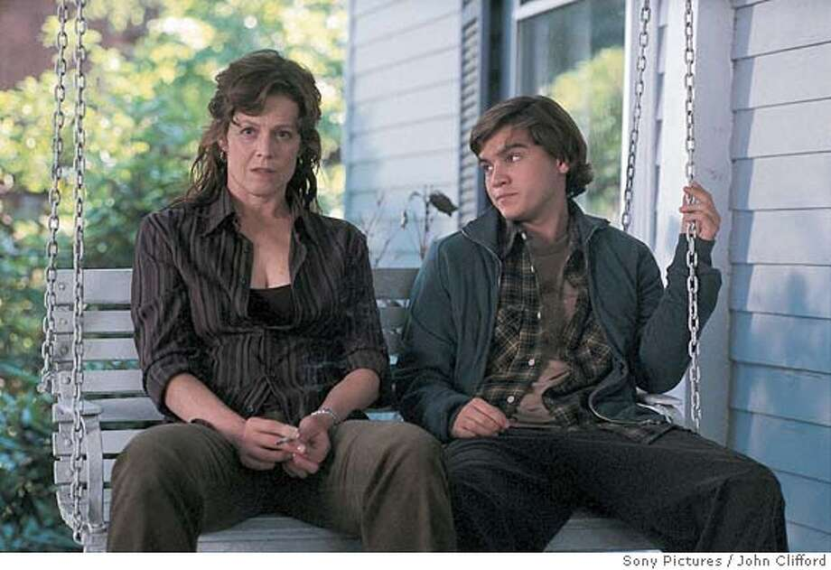 IMAGINARY25 L: Sigoourney Weaver as Sandy Travis. R: Emile Hirsch as Tim Travis. John Clifford/Sony Pictures Ran on: 02-25-2005  A mother (Sigourney Weaver) and her son (Emile Hirsch) develop a bond.