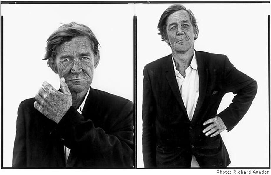 """From the """"In the American West"""" exhibition coming to Stanford: RICHARD AVEDON 's """"Clarence Lippard, Drifter, Interstate 80, Sparks, Nevada, 29 August 1983"""" 1983 / printed 1985 two vintage silver prints mounted on aluminum Photo: X"""