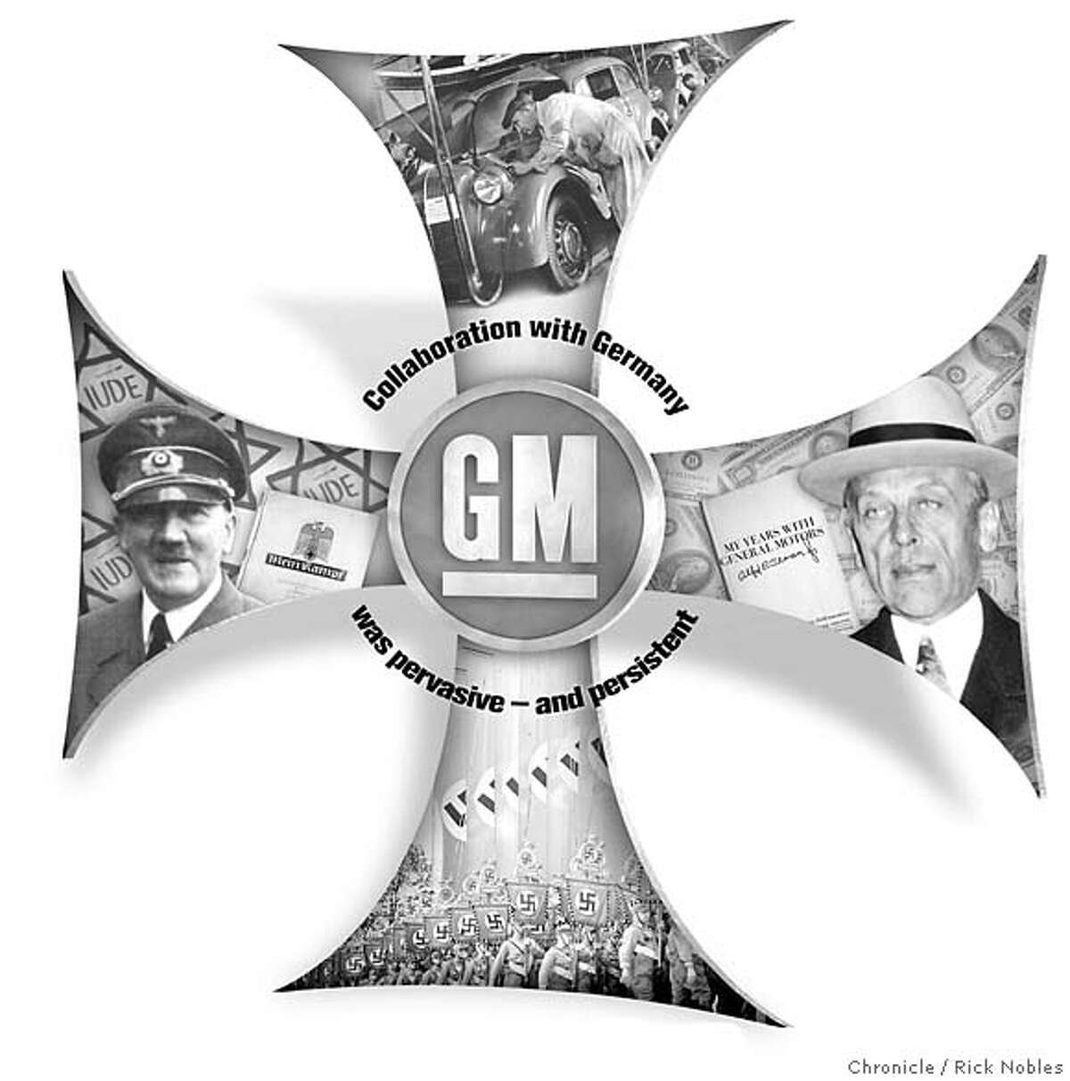 Nazis rode to war on GM wheels. Chronicle illustration by Rick Nobles