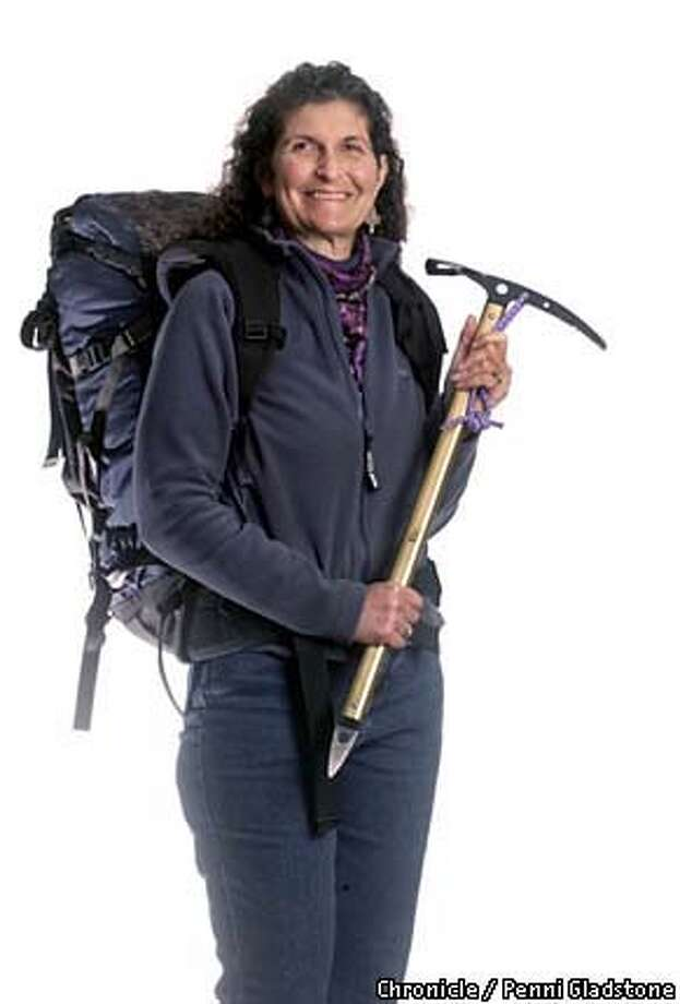 """FACETIME23-C-14FEB03-MG-PG Arlene Blum mountaineer and author . Blum wrote """"Annapurna: A Woman's Place"""" and 25 years later has finished a sequel. SAN FRANCISCO CHRONICLE PHOTO BY PENNI GLADSTONE"""